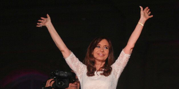 BUENOS AIRES, ARGENTINA - DECEMBER 09: Outgoing President of Argentina Cristina Fernandez de Kirchner...