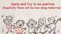 Τι κι αν έχει αιθαλομίχλη; Οι συστάσεις στους Κινέζους είναι να συνεχίσουν να χαμογελούν και να πίνουν