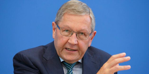 BERLIN, GERMANY - AUGUST 27: Klaus Regling, managing director of the European Stability Mechanism ( ESM...