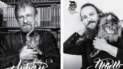Ο καλύτερος φίλος του ιερέα: Ρώσοι ορθόδοξοι κληρικοί φωτογραφίζονται με τις γάτες τους για