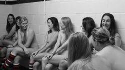 Σέξι παίκτριες του ράγκμπι γδύνονται για καλό