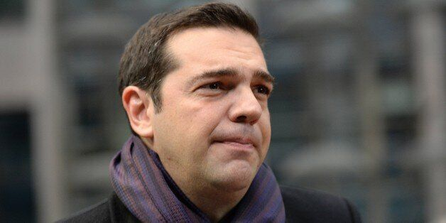 Greece's Prime minister Alexis Tsipras arrives for a summit on relations between the European Union and...