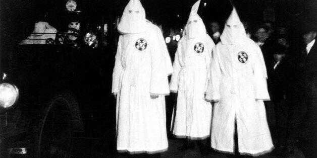 Ku Klux Klan parade in Virginia, March 18 1922, United States, Washington. Library of Congress, . (Photo...