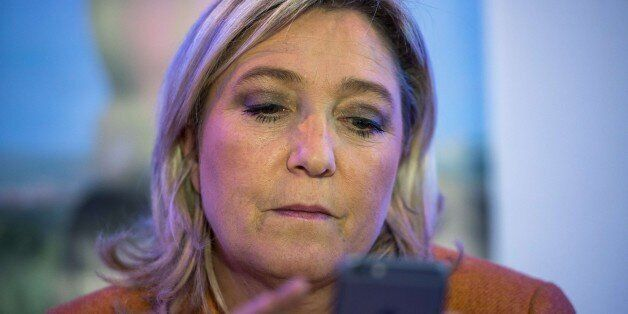 French far-right Front National (FN)'s president and candidate for the regional elections in Nord-Pas-de-Calais-Picardie,...