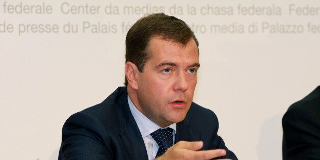 Zuerich, CHE, 21.09.2009: Praesident Dmitri Medwedew beim Staatsbesuch in der Schweiz Praesident Dmitri...
