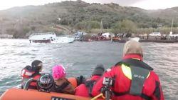 Συγκλονιστικό βίντεο από την διάσωση μεταναστών στη