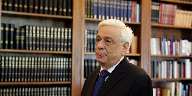 Greek President Prokopis Pavlopoulos, waits the arrival of former Energy Minister and head a party called...