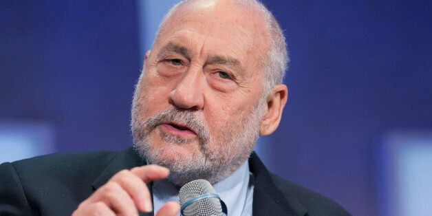 Columbia University Professor Joseph Stiglitz speaks at the Clinton Global Initiative, Monday, Sept....