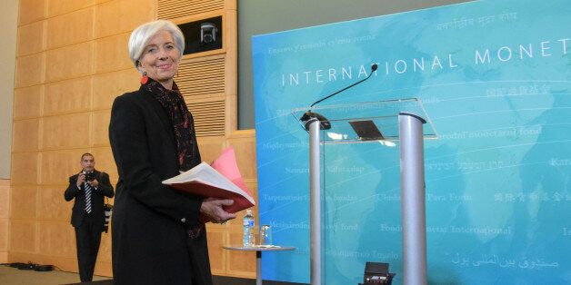 WASHINGTON D.C., Nov. 30, 2015 -- Christine Lagarde, managing director of the IMF, arrives to address...