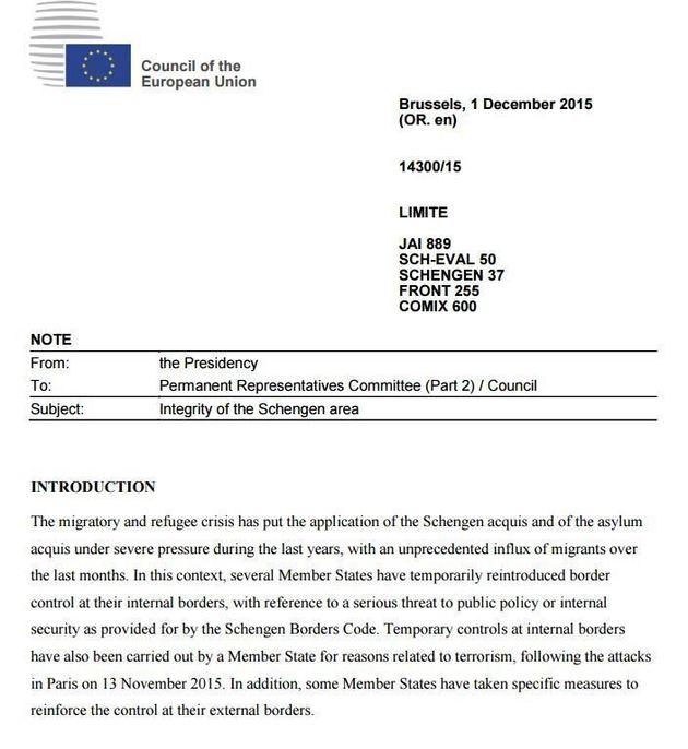 Έγγραφο του Συμβουλίου της ΕΕ αναζωπυρώνει τη συζήτηση για τη θέση της Ελλάδας στον χώρο της