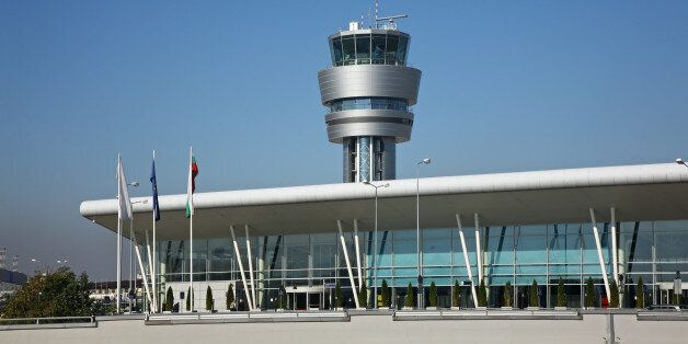 Airport in Sofia.