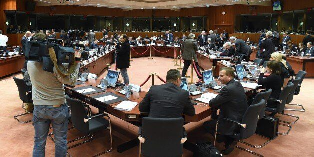 European interior ministers attend a Justice and Home Affairs Council at the European Council in Brussels...