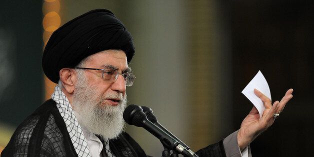 In this picture released by the official website of the office of the Iranian supreme leader, Supreme...