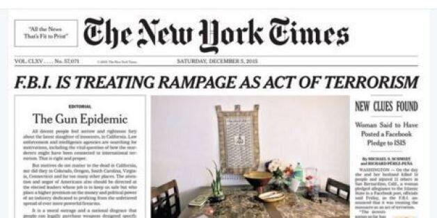 Ιστορικό πρωτοσέλιδο για τους NYT: Για πρώτη φορά από το 1920 άρθρο γνώμης στην πρώτη