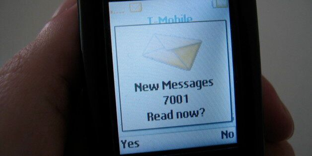I haven't had my coffee yet, now I find 7001 new messages? No it turns out I have one text message from...