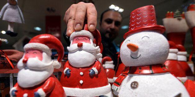 MADRID, SPAIN - DECEMBER 20: Noel trinkets are seen as Spanish people start their Christmas preparation...