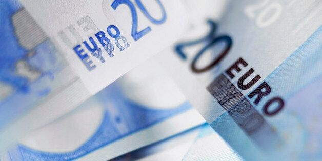 Close up of 20 euro