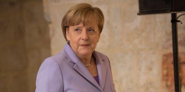 VALLETTA, MALTA - 2015/11/12: German Chancellor Angela Merkel at the two-day Malta summit,which will...