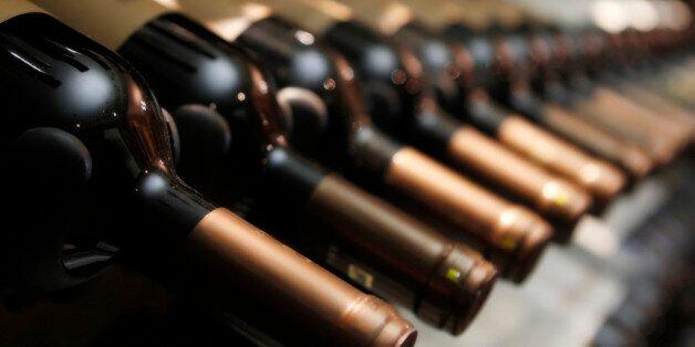 bottles of wine in