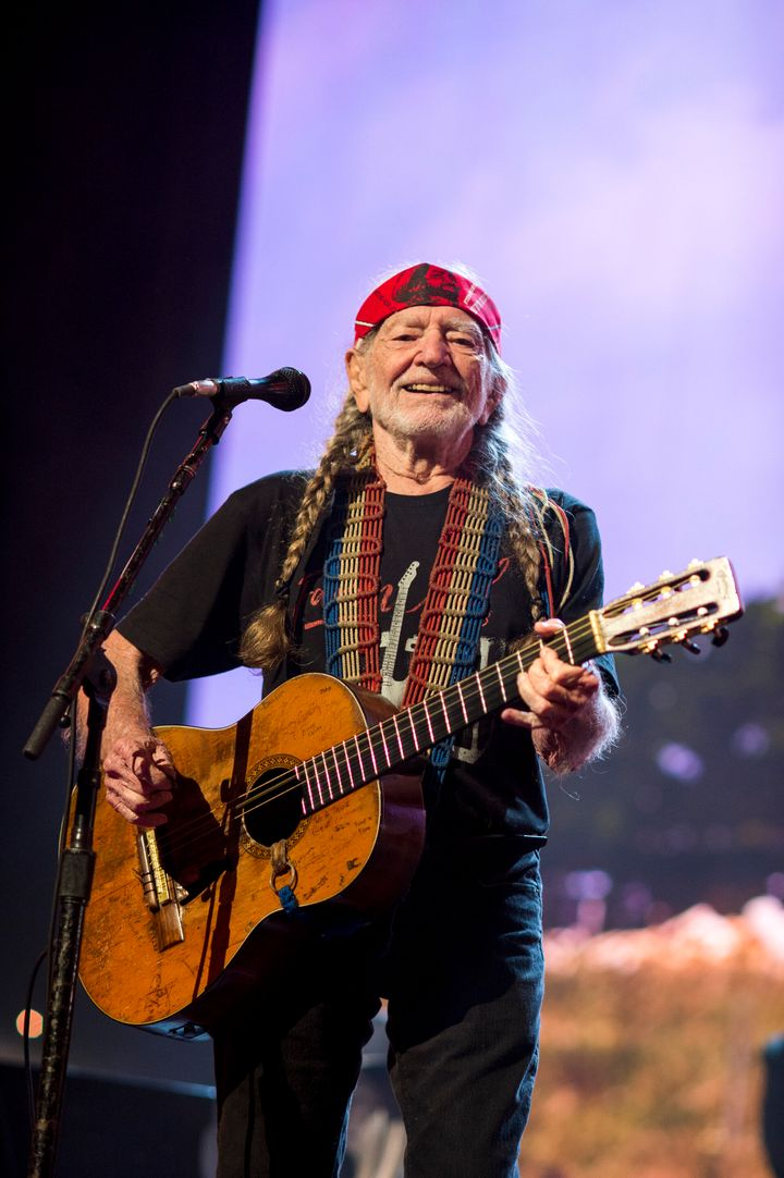 Willie Nelson performs at the 2018 Farm Aid concert in Connecticut. Nelson helped organize the first Farm Aid concert in 1985