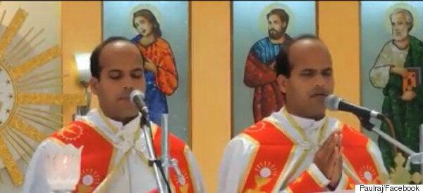 Δίδυμοι παντρεύονται δίδυμες σε γαμήλια τελετή με δίδυμους ιερείς και δίδυμα
