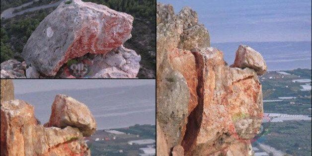 Τμήμα βράχου αποκολλήθηκε και