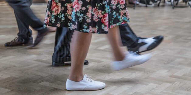 Walking in step with each other - Swing Dance Evening - taken at Swing Dance in Purley Surrey. 50's