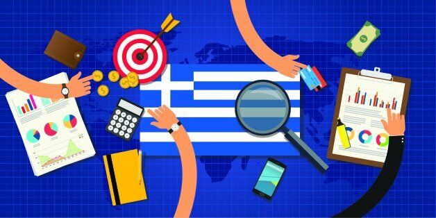 greek or greece economy and economical crisis and financial