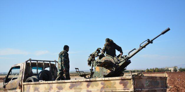 ALEPPO, SYRIA - NOVEMBER 21: Armed opposition groups linked to the al Shamiya Front (Damascus Front)...