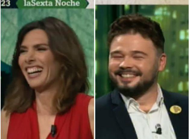 Verónica Sanz y Gabriel Rufián en 'LaSexta