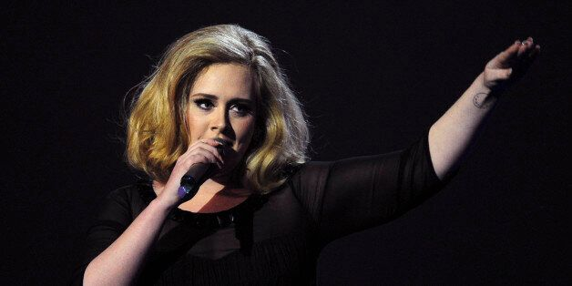 British singer-songwriter Adele accepts the British Female Solo Artist award at the BRIT Awards 2012...