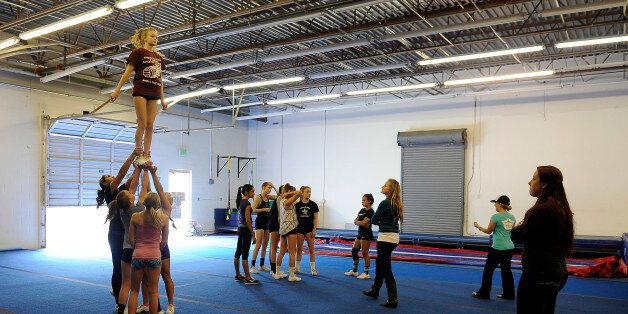 THORNTON, CO - OCTOBER 5: Students with Horizon High School train at Empire Athletics on October 5, 2015,...