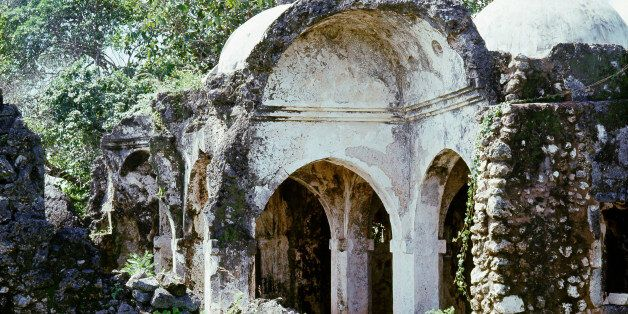 Kilwa, an East African trading town, The ruins of the Great Mosque which was founded in the 13th century...