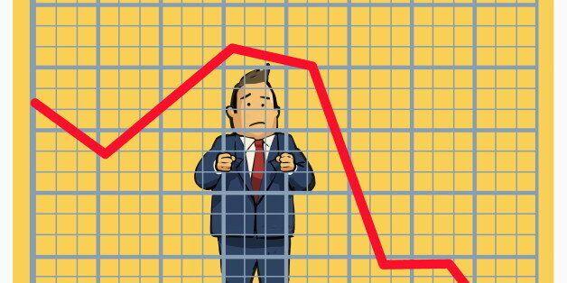 Man behind stock chart