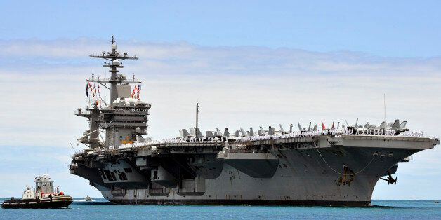 PEARL HARBOR (May 27, 2015) The aircraft carrier USS Carl Vinson (CVN 70) arrives at Joint Base Pearl...