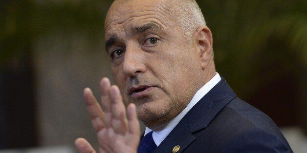 Bulgaria's Prime Minister Boyko Borissov leaves after an European Council leaders' summit, at the European...