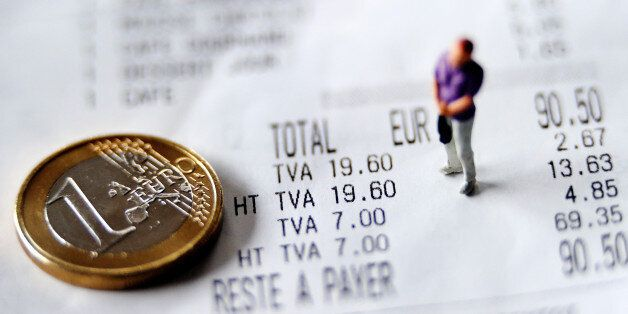 A picture taken on September 24, 2012 in Lille, shows an illustration made with a figurine and a one...