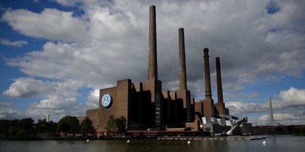 This photo taken on Sept. 29, 2015 shows the power plant of the Volkswagen factory in the city Wolfsburg,...