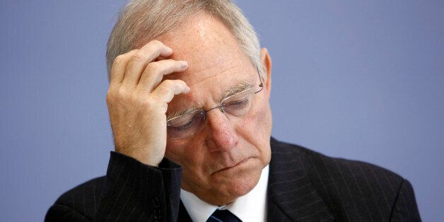 Bundesinnenminister Wolfgang Schaeuble nimmt am Montag, 15. Juni 2009, an einer Pressekonferenz in Berlin...