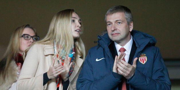 MONACO - MARCH 17: President of AS Monaco Dmitri Rybolovlev (R) and his daughter Ekaterina Rybolovlev...