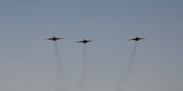 Russian fighter jets arrive at al-Muthanna air base in Baghdad, Iraq, Tuesday, July 1, 2014. Iraq is...