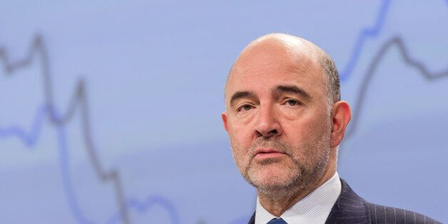 EU Commissioner for Economic and Financial Affairs, Taxation and Customs Pierre Moscovici addresses the...