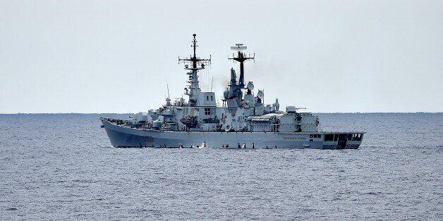 The Italian navy destroyer Luigi Durand De La Penne which is part of the European external action service...