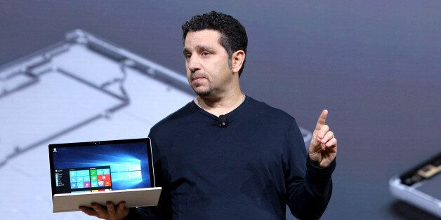 IMAGE DISTRIBUTED FOR WINDOWS - VP of Microsoft Surface Panos Panay speaks on stage at Windows 10 Devices...