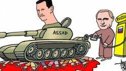 Η εμπλοκή της Ρωσίας στη Συρία μέσα από τη γελοιογραφία. Η προπαγάνδα και η