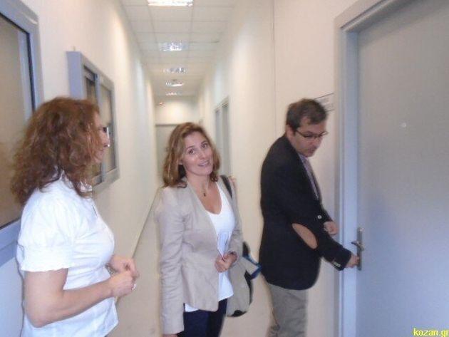 Η πρώτη ξενάγηση της Περιστέρας Μπαζιάνα στο πανεπιστήμιο Δυτικής