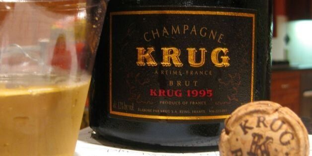 We had to drink our 1995 Krug champagne out of plastic cups since everything was packed and on the moving...