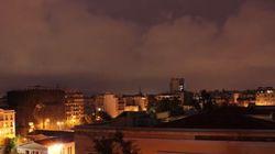 Η καταιγίδα πάνω από την Αθήνα σε ένα εντυπωσιακό