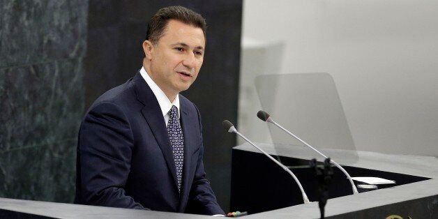 Macedonian Prime Minister Nikola Gruevski addresses the 68th session of the United Nations General Assembly,...