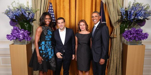 Η πρώτη φωτογραφία του Αλέξη Τσίπρα και της Μπέτυ Μπαζιάνα με το ζεύγος
